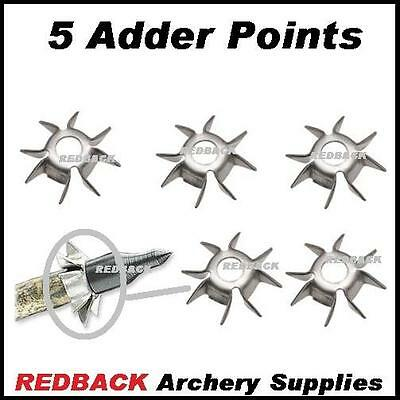 Adder points for archery hunting arrows 5 pack