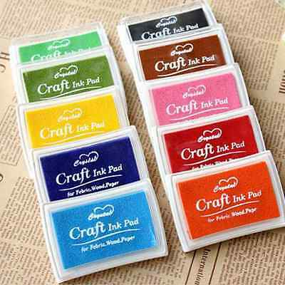 14 color Inkpad Oil Based Multi Colour Ink Pad Rubber Stamps Paper Wood-Craft