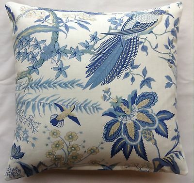 Sanderson Blue 'Suva' Cushion Cover by Anderson Castle Designs