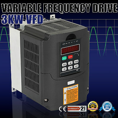 3KW VFD Variable Frequency Drive Inverter Speed Control Motor 4HP 220V 3 Phase