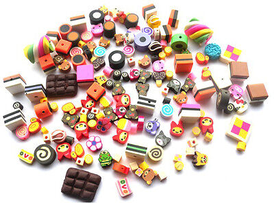 Over 150 Beads Mixed Lots - Cakes, Sweets Polymer Clay Fimo Fast Free Shipping
