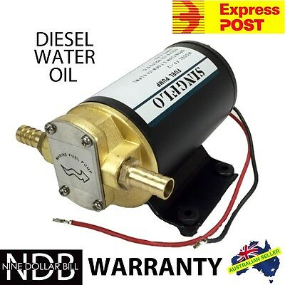 12V Gear Pump Transfer Fuel Diesel Salt Water Oil Scavenge Heavy Duty EXPRESS