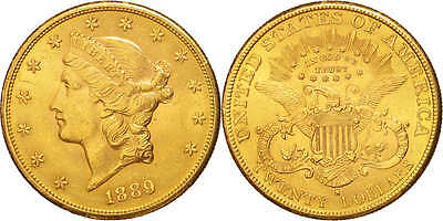[#503150] United States, Liberty Head, $20, 1889, San Francisco, KM:74.3