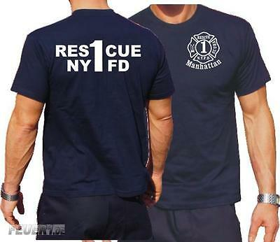 T-Shirt navy, NYFD (Rescue 1) Manhattan