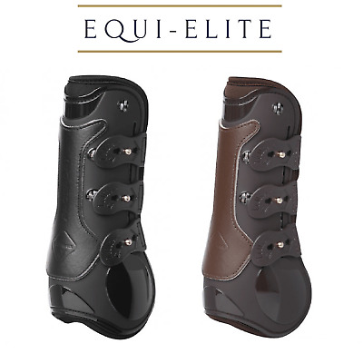 LeMieux Teknique Technical Tendon Show Jumping Boots - Black Brown White