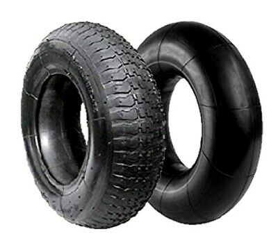 """2X - 3.50 - 8 Tyre And Inner Tube, Wheel, Wheelbarrow Replacement Fits 14"""" Wheel"""