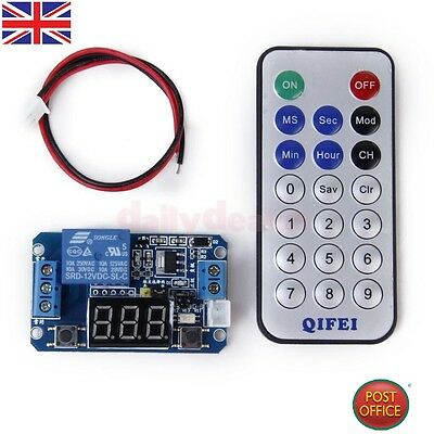 12 V LED Digital Programmable Timer Relay Switch Module + IR Remote Control