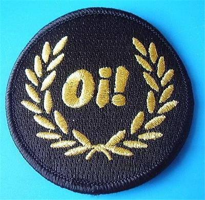 SKINHEAD SKA REGGAE PATCH - Oi! LAUREL BLACK