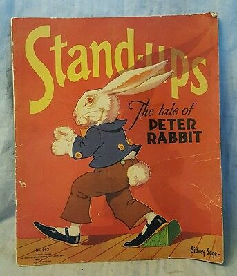 Sidney Sage  Stand-ups  The Tale of Peter Rabbit. Vintage Diorama Book