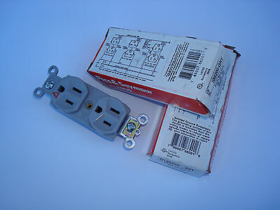 Lot of 10 Pass & Seymour IG6200-GRY 15 amp 125V duplex receptacles Isol ground