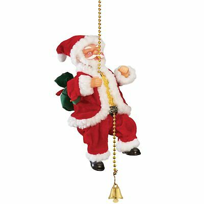 Musical Climbing Santa Christmas Decoration, by Collections Etc
