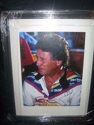 Mario Andretti Hand Signed 11X14 Photo Custom Framed And Matted
