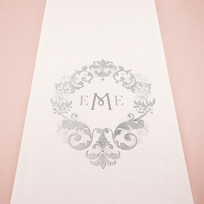 Monogram Simplicity Personalized Wedding Ceremony Aisle Runner