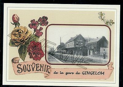 GINGELOM  -...... gare  souvenir creation moderne serie numerotee