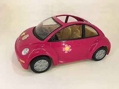Fisher Price - Loving Family - VW Pink Beetle Car - Accessories / Furniture