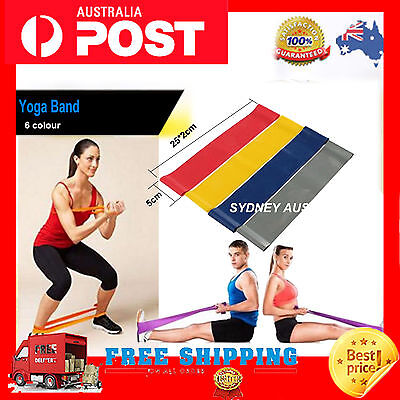 New Yoga Pilates Exercise Resistance Bands Crossfit Exercise Fitness Loop Band