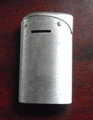 "Vintage 1950s Evans USA Silver Metal Lighter 2 1/4"" Tall"