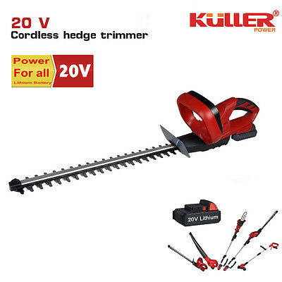 NEW 20V Cordless Lithium hedge trimmer KIT with battery and charger garden