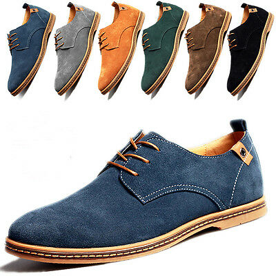 Fashion Mens Suede Leather Shoes European Style Comfort Casual shoes Multi Size