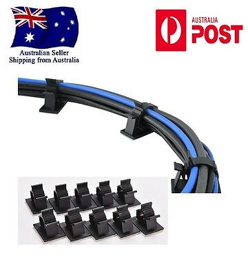 *1pc-100pc Adjustable Self-Adhesive Wire Cable Ties Mounts Clip Organizer Holder