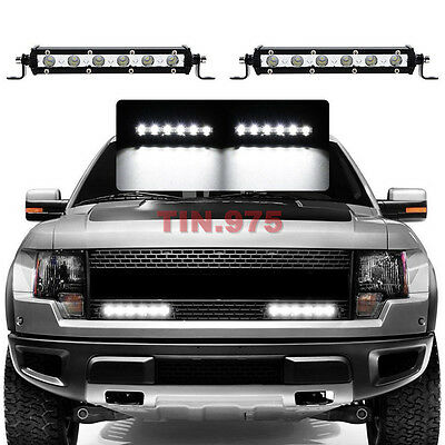 2PCS 18W CREE Spot Beam Ultra Slim Single LED Light Bar Work Off-road Jeep Truck