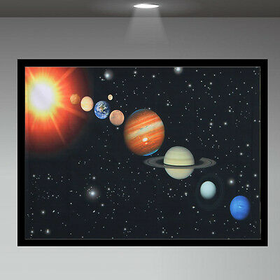 """Cosmos Solar System Space Universe Patterns Silk Cloth Poster Home Decor 17 x13"""""""