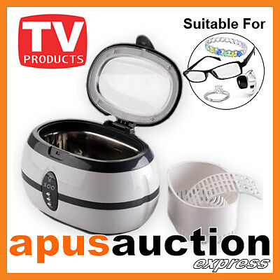Ultrasonic Multi Purpose Sonic Wave Jewellery Cleaner Glasses Watch Cleaning