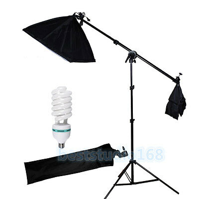 Photography Studio Softbox Continuous Lighting Boom Arm Soft Box Light Stand Kit