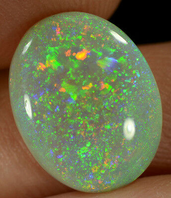 Crystal Opal Australian natural solid 2.95 ct with multi-colour pinfire pattern