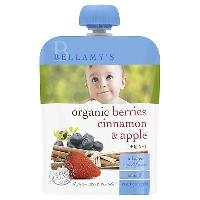 Bellamy's Organic Berries Cinnamon & Apple 90g