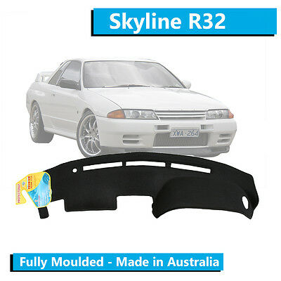TO FIT: Nissan Skyline R32 (1989-1993) - Aftermarket Dash Mat - Black - Moulded