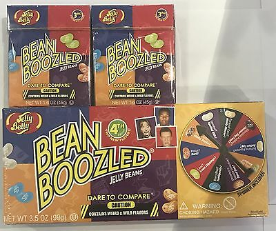 99g BOX OF BEAN BOOZLED JELLY BEANS & 2 EXTRA 45g BOXES - SPINNER INCLUDED