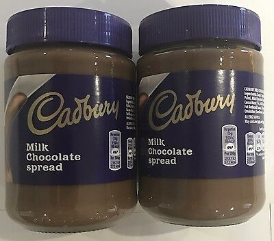 904227 2 x 400g JARS OF CADBURY MILK CHOCOLATE SPREAD - DELICIOUS ON WARM TOAST! • AUD 19.98