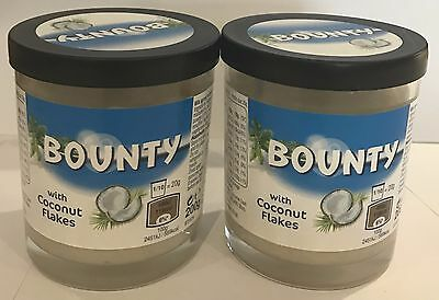 909703 2 x 200g JARS OF BOUNTY SPREAD - WITH COCONUT FLAKES! - YUMMY ON TOAST!