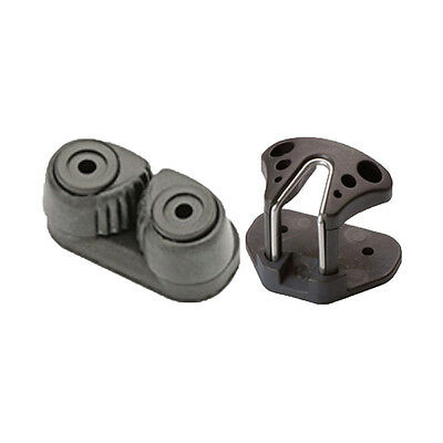 Cam Cleat Composite SMALL 27mm Holes Black - BONUS PERFORMACE FAIRLEAD INCLUDED