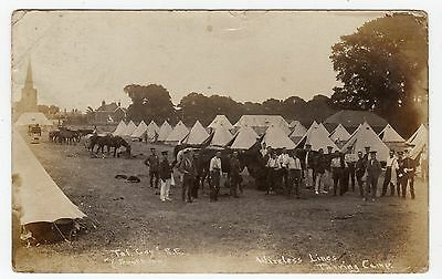 WIRELESS LINES, TARRING (?) CAMP: Military postcard (JH1527)