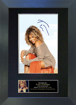 TINA TURNER Signed Mounted Autograph Photo Prints A4 245