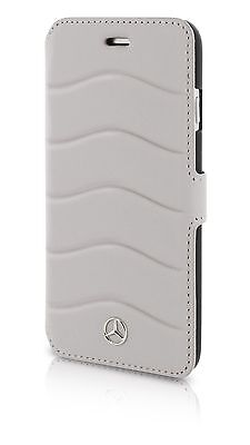Genuine Mercedes-Benz Wave III Genuine Leather BookCase Cover iPhone 8 & 7