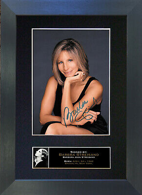 BARBRA STREISAND Signed Mounted Autograph Photo Prints A4 225