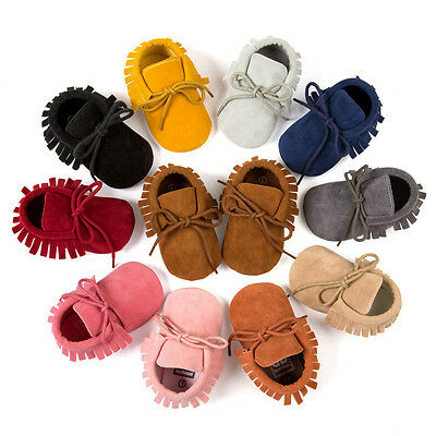 Infant Newborn Baby Girl Boy Soft Sole Boots Toddler Tassel Moccasin Crib Shoes