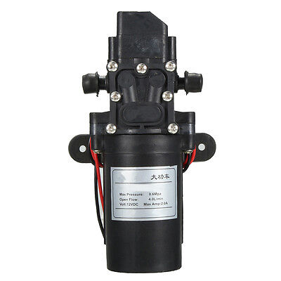 DC 12V 4L/min 100PSI High Pressure Diaphragm Water Self Pump For RV Caravan Boat