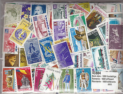 Roumanie : Lot De 1000 Timbres Tous Differents