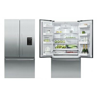 Fisher & Paykel 90cm 3 Door American Style Fridge Freezer With Ice and Water
