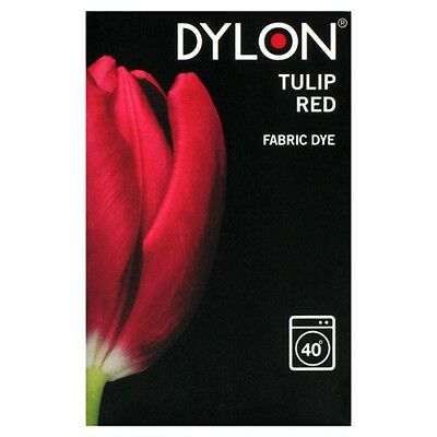 Dylon 200g Tulip Red Machine Fabric Dye - FREE P&P