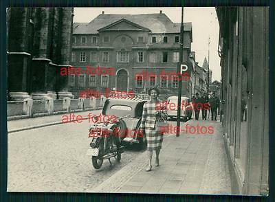 Foto -  Oldtimer Auto Car -  Moped - Mühlhausen