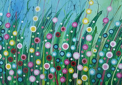 Dreamy Meadow - mounted limited edition print of an original painting