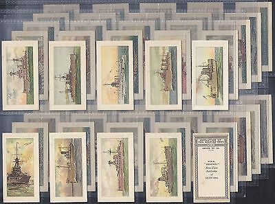 Phillips-Full Set- Evolution Of The British Navy - Includes Rare Card!!! - Exc