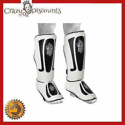 Shin Instep Pads Mma Leg Foot Guards Muay Thai Kick Boxing Ufc Karate Rexine  Ne