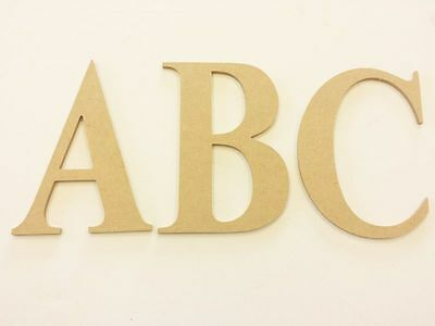 Wooden Letters Alphabet Flat MDF - A5 Craft Decorate Name Word Letter Gift