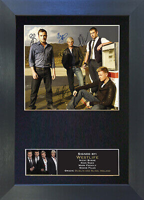 WESTLIFE Signed Mounted Autograph Photo Prints A4 188